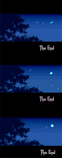 An evolution of the celestial object's phases