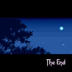 The end screen of Secret of Mana