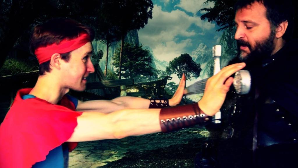 Ross K. Foad as Randi and Dimitrios Paximadas as Jema