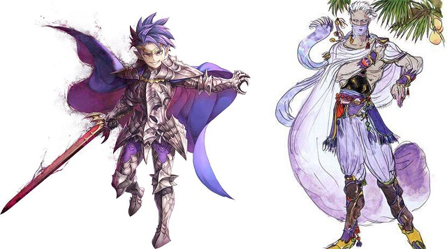 Sheex from Secret of Mana compared with Edge of Final Fantasy IV