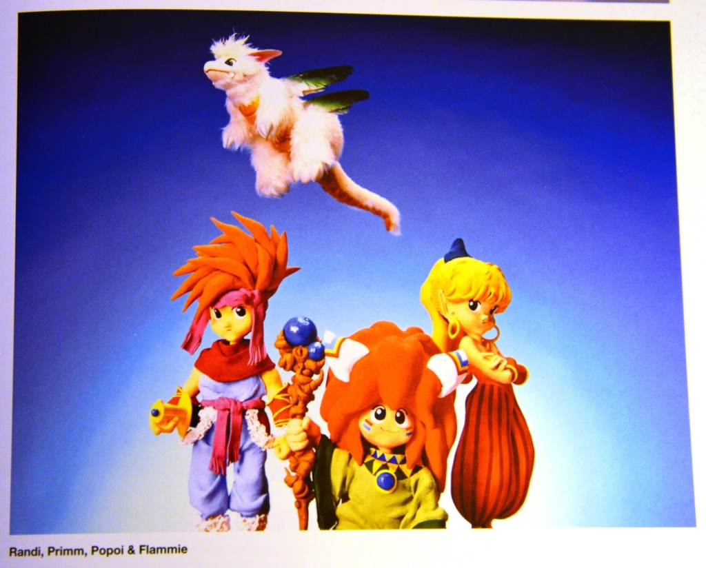 The official character art of Secret of Mana on the Super Nintendo