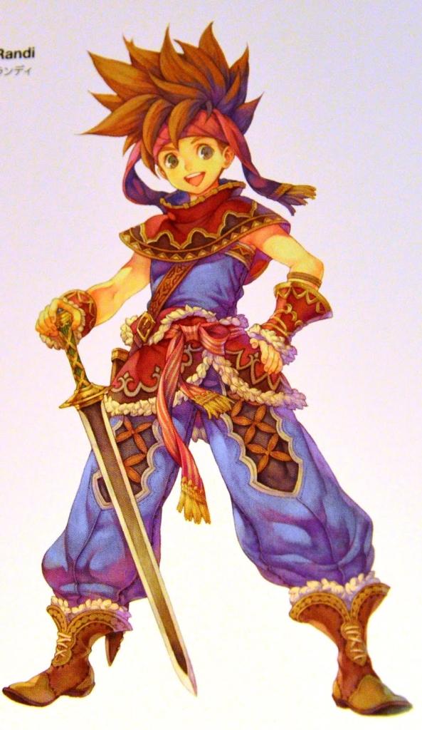 Official Art of Randi for the mobile version of Secret of Mana
