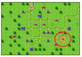 Northtown with the mysterious spinning object highlighted