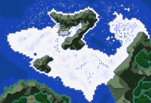 The Ice Country in Trials of Mana (SNES)