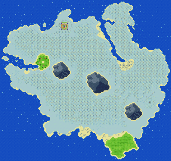 The Ice Country as it appears in Secret of Mana