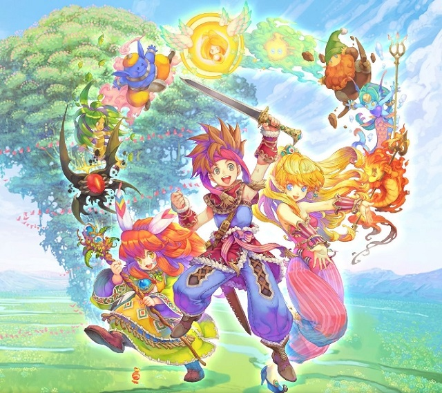 Official art of the mobile version of Secret of Mana