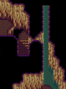 An inaccessible area of the Dragon Cave