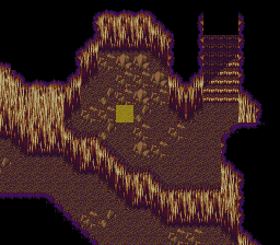 An otherwise empty room in the Dragon Cave
