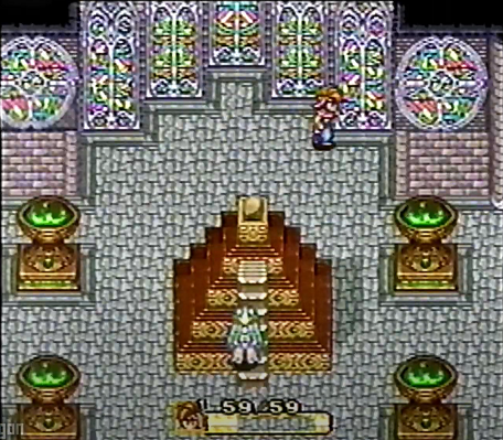 A prerelease shot with early versions of Luka and the Water Palace