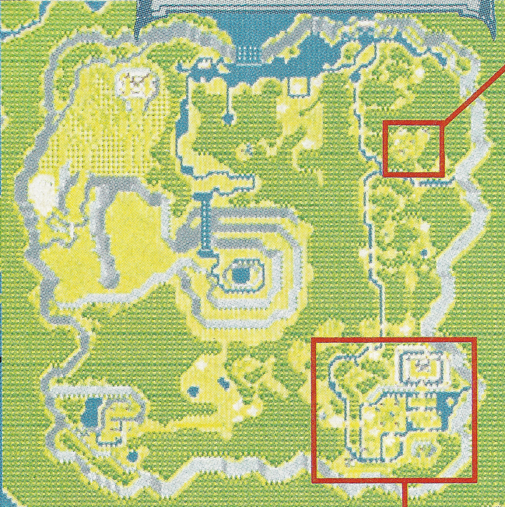 A prerelease map of the Gaia Lowlands from Secret of Mana