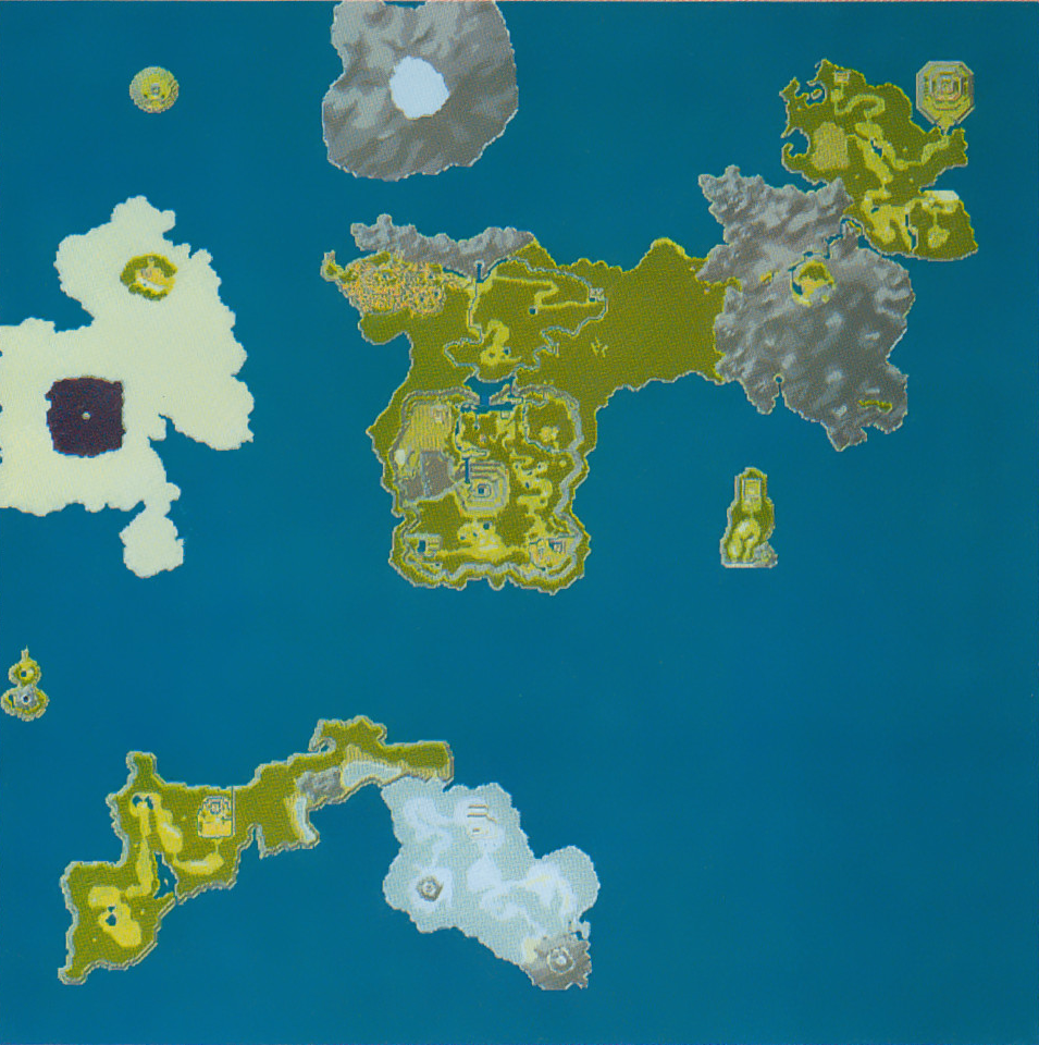 A prerelease map from Secret of Mana