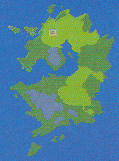 Early version of the Empire's continent