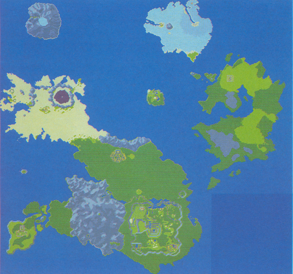 A prerelease world map from Secret of Mana