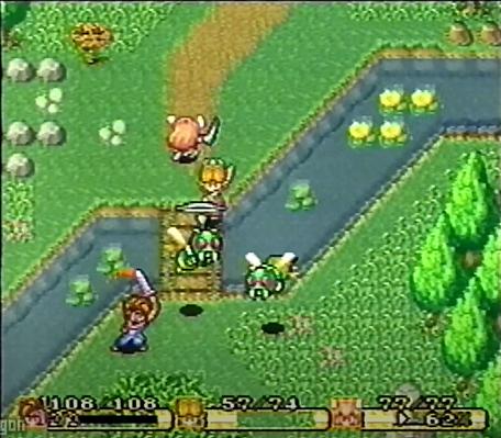 A prerelease screenshot of Secret of Mana